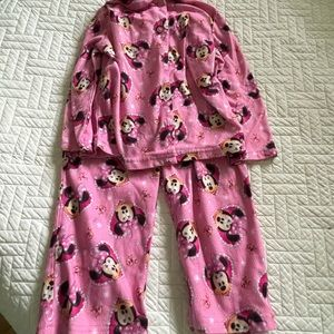 Toddler girls flannel Minnie Mouse pjs